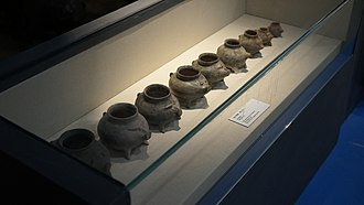 Gaoyou - Pig-shaped Pottery Pots excavated from Longqiuzhuang Site