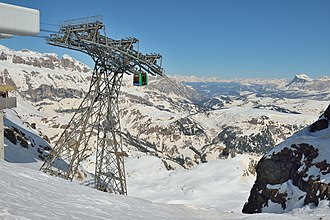 Skyline - Ski lift pylon in Italy transforming a natural skyline