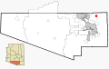 Pima County Incorporated and Unincorporated areas Summerhaven located.svg