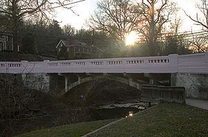 Pink Bridge - The Pink Bridge in Ritter Park.