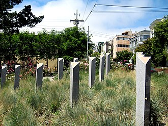 Pink Triangle Park - Pink Triangle Park and Holocaust Monument
