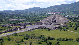 Pyramid of the Moon second largest pyramid in Teotihuacan (Mexico), built by a Mesoamerican culture