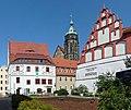 Pirna, Frohngasse - Blick auf Canalettohaus, Marienkirche und deutsch-tschechisches Interna (01-2).jpg