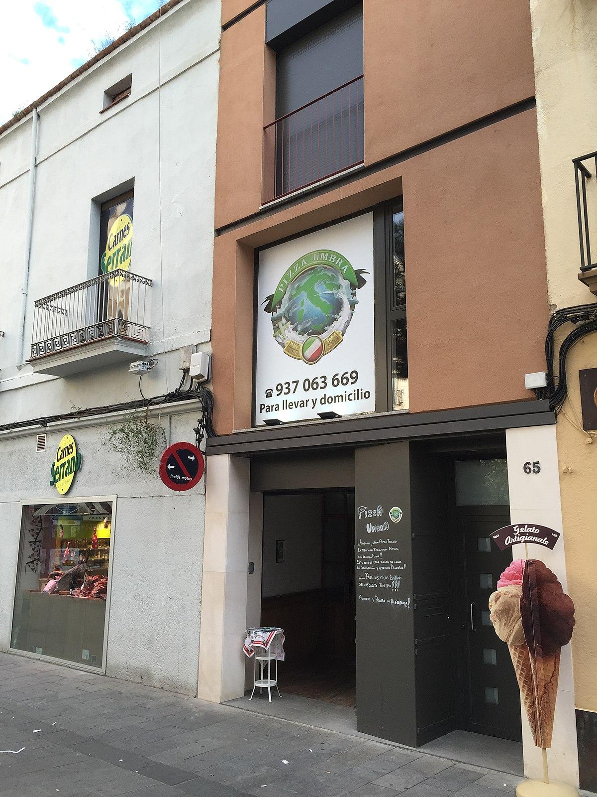 File Pizza Umbro Shop Sabadell Jpg Wikimedia Commons