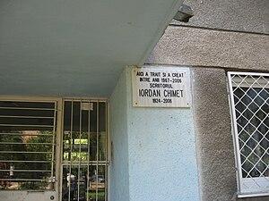 Iordan Chimet - Chimet's memorial plaque in Titan, Bucharest