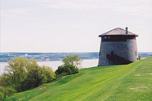Martello tower - A Martello tower on the plains of Abraham in Quebec City (Quebec, Canada), at the top of Cap Diamant overlooking the Saint Lawrence River.