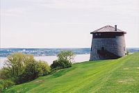 A Martello tower overlooking the Cap Diamant and St. Lawrence River