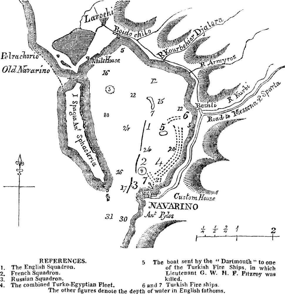 Plan de la Bataille de Navarin