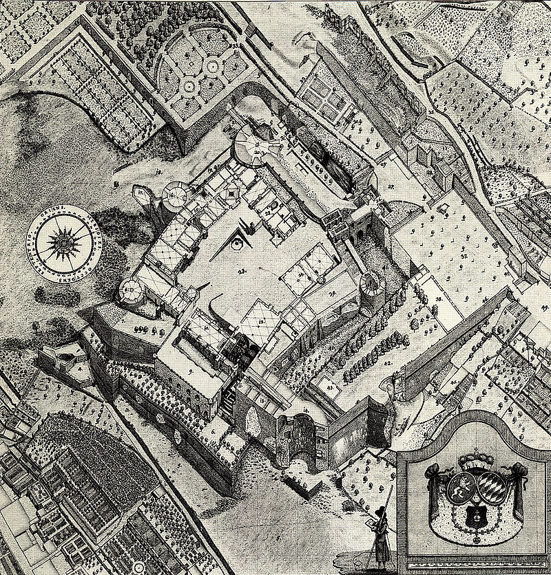 Plan des Heidelberger Schlosses von Peter Friedrich von Walpergen um 1780.jpg