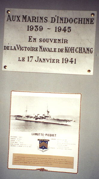 Battle of Ko Chang - A plaque commemorating the battle