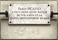 Plaque Pablo Picasso, 9 rue Gay-Lussac, Paris 5.jpg