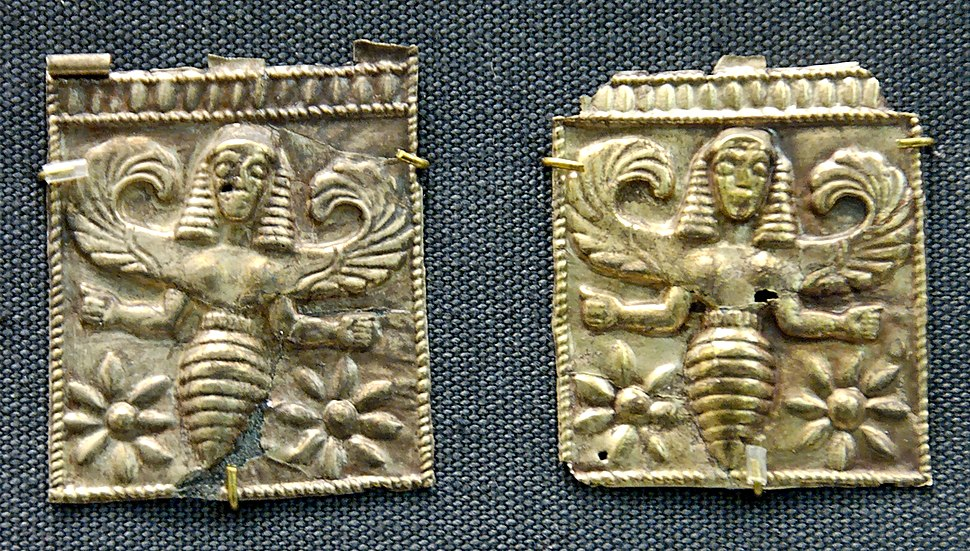 Plaque bee-goddess BM GR1860.4-123.4
