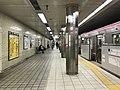 Platform of Awaza Station (Sennichimae Line) 3.jpg