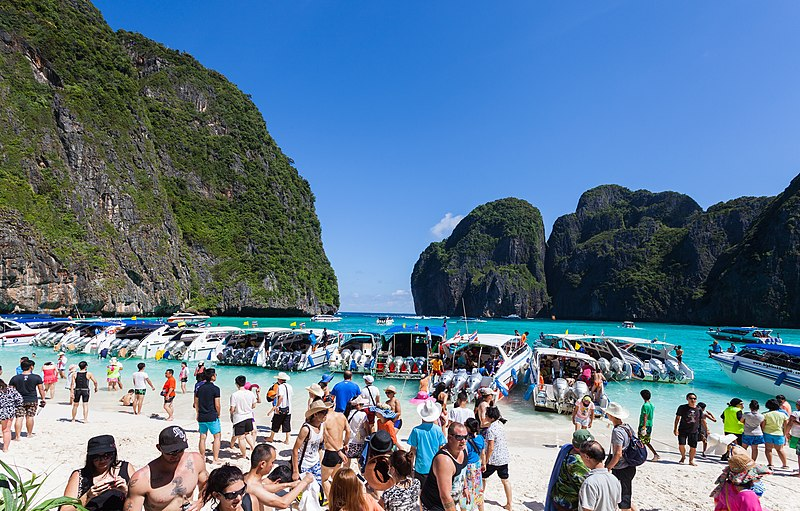 Maya Beach i Thailand