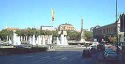 Plaza de Colón vista desde la calle de Génova.
