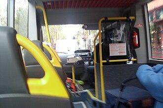 Mellor Tucana - Image: Plus Bus 812Interior