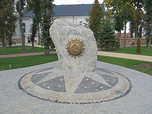 Geographical midpoint of Europe - Monument in Suchowola, Poland