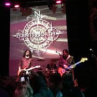 The band (Eric Barnett, Kevin Aiello and Uriah Duffy) at The New Parish in Oakland, May 2015