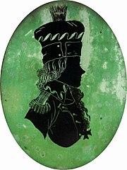 Silhouette of Tadeusz Kościuszko.