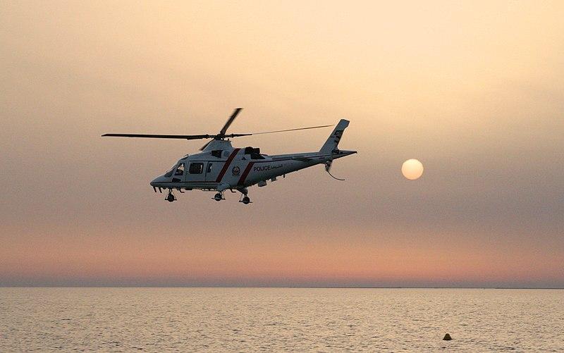 File:Police helicopter at sunset (Unsplash).jpg