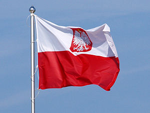 Flag of Poland - Flag with coat of arms