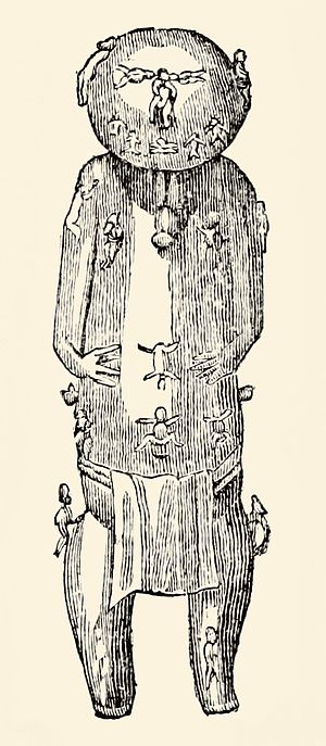 Ta'aroa - A correct front view of Ta'aroa
