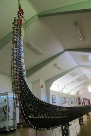 South Sea Islands Museum - Solomon Islands war canoe on display at The South Sea Islands Museum (picture taken Feb 2106)