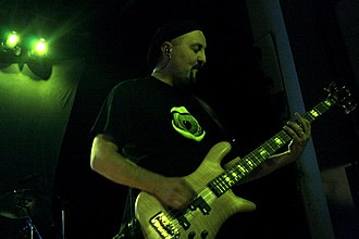 Colin Edwin - Colin Edwin performing with Porcupine Tree in Falls Church, Virginia, October 2007.