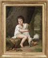 Portrait of the young Henri Bertholet-Campan (1784-1821) with the dog Aline - Nationalmuseum - 150908.tif