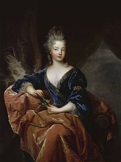Portrait painting of Francoise Marie de Bourbon, later Duchess of Orleans by Francois de Troy.jpg