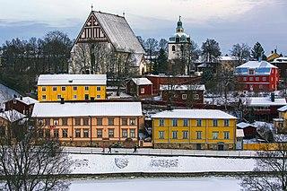 Porvoo City in Uusimaa, Finland