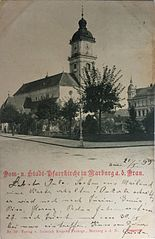 Postcard of Maribor Cathedral 1899.jpg