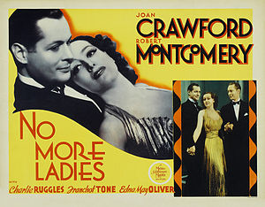 No More Ladies - Lobby card