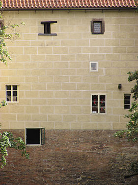 Prague castle - windows on the back side.JPG