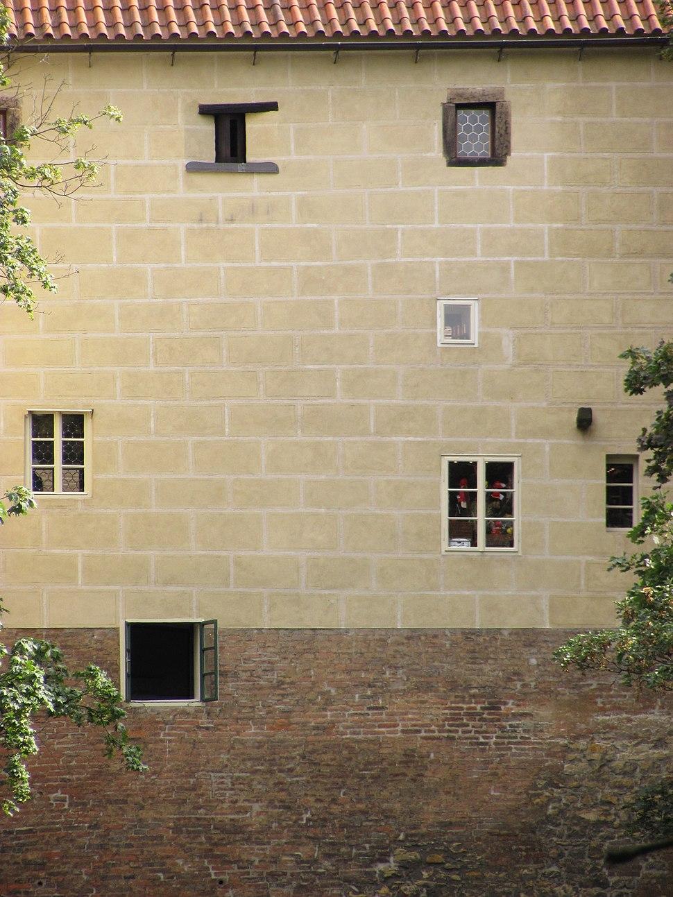 Prague castle - windows on the back side