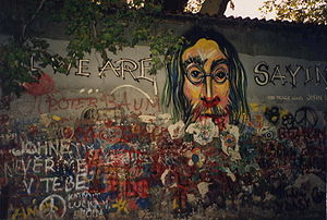 Lennon Wall - Portion of the wall, 1993