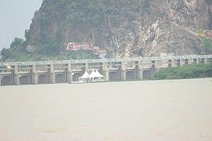 Prakasam Barrage - Image: Prakasam barrage (1)