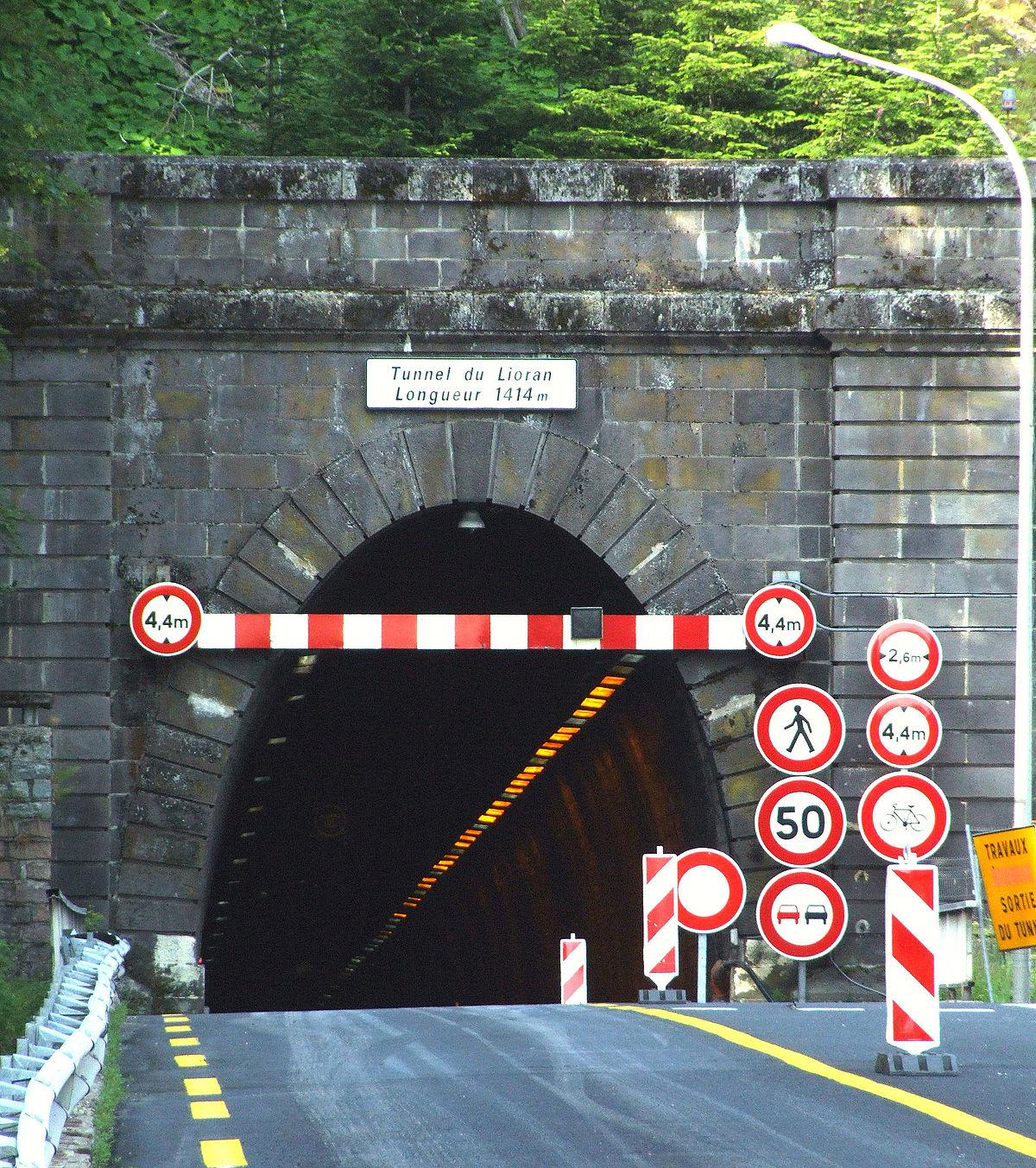 Premier tunnel routier du lioran wikip dia for Construction de tunnel