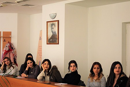 Presentation about WMAM projects at Yerevan Brusov State University of Languages and Social Sciences 02.jpg