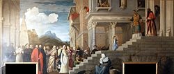 Titian: The Presentation of the Virgin at the Temple (Titian)