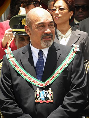 English: Desi Bouterse, president of the Repub...