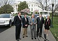 President George W. Bush Participates in Demonstration of Alternative Fuel Vehicles with CEOs of Ford, General Motors and DaimlerChrysler.jpg