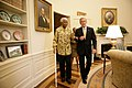 President George W. Bush and Former President Nelson Mandela of South Africa Meet in the Oval Office.jpg