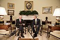 President George W. Bush meets with Andrew Natsios, U.S. Special Envoy for Sudan, in the Oval Office.jpg