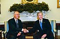 President George W. Bush welcomes Prime Minister Goh Chok Tong of Singapore to the Oval Office.jpg