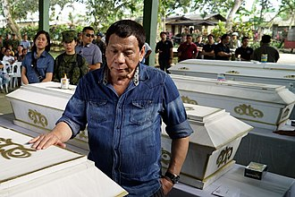 2019 Jolo Cathedral bombings - President Duterte pays his last respects to the victims of the bombings.