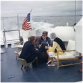 President Vacations in Maine. Under Secretary of the Navy Paul Fay, President Kennedy, Patricia Kennedy Lawford.... - NARA - 194209.tif