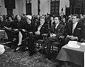 Prijs der Nederlandse Letteren voor Stijn Streuvels , hier met Minister Cals, Bestanddeelnr 914-6140.jpg