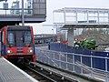 Prince Regent DLR station with car no 62, Apr 2009.jpg