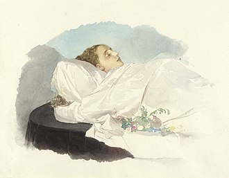 Princess Maria Annunciata of Bourbon-Two Sicilies - Maria Annunciata on her deathbed, 1871